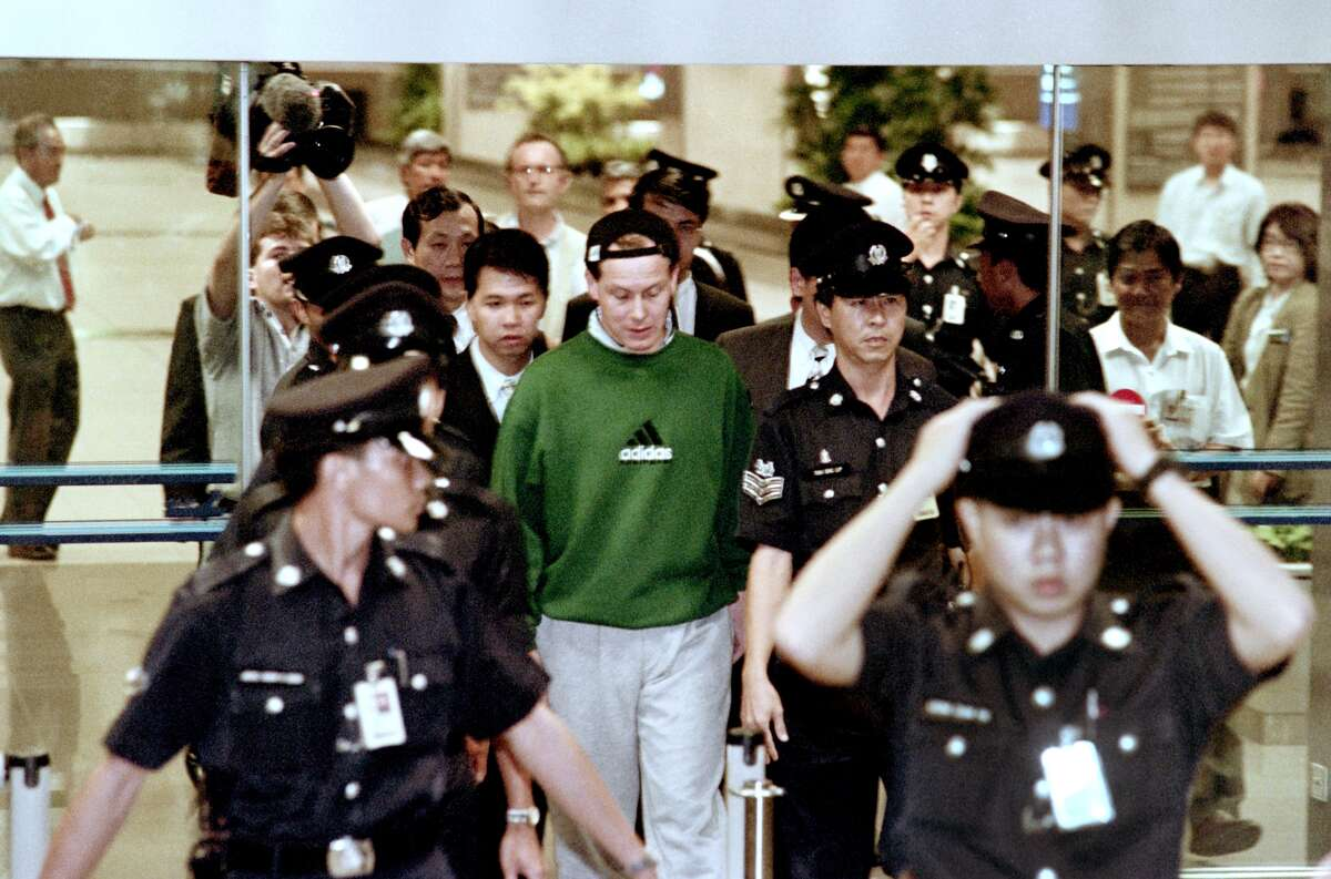 Rogue trader Nick Leeson, the new bad boy of the financial world is busted for bringing Barings Bank to it's knees. His illegal trading cost the markets a whopping $1.4 billion.