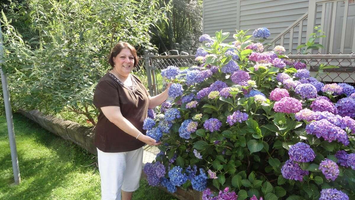 Maryann Anderson in her garden before her death in March 2015.