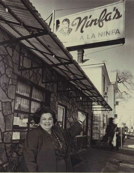 Mama Ninfa Laurenzo in front of her restaurant about 1974. (Photo: Courtesy Phyllis Mandola) Photo: Family Photo / handout