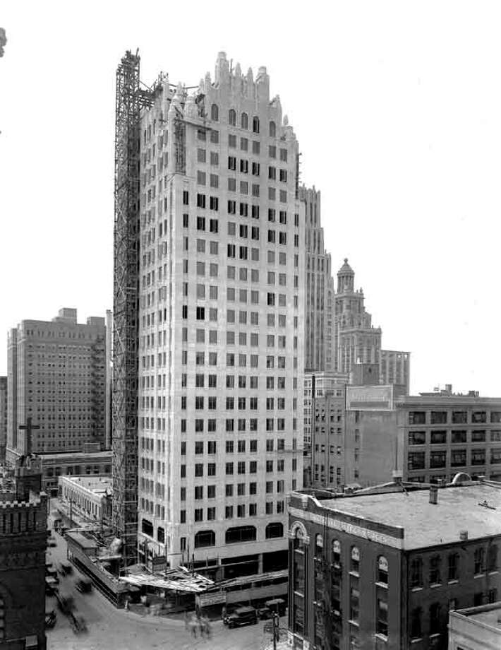 The Sterling Building under construction, early 1930s. See more photos of early Houston at The Sloane Collection. Photo: The Sloane Collection