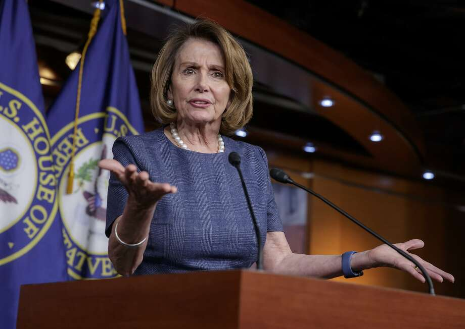 """FILE - In this March 9, 2017 file photo, House Minority Leader Nancy Pelosi of Calif. speaks during a news conference on Capitol Hill in Washington. Speaking about health care, Tuesday, March 14, 2017, Pelosi said the GOP measure is """"very, very cruel. It must be stopped."""" (AP Photo/J. Scott Applewhite, File) Photo: J. Scott Applewhite, Associated Press"""