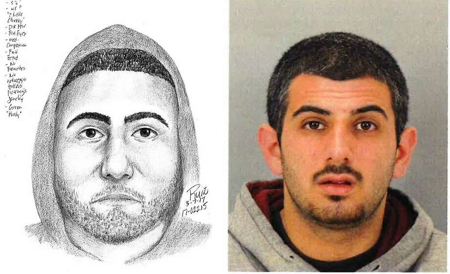 George Moubarak, 26, of South San Francisco turned himself in to police in connection with two recent sexual assaults at a Caltrain stations in Palo Alto. Photo: San Mateo County Sheriff's Office