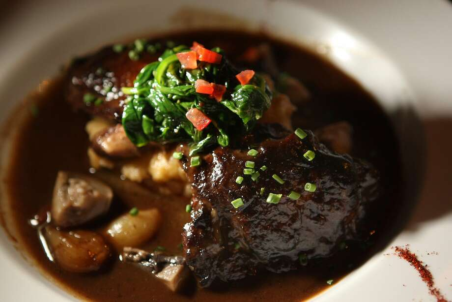 At L'Ardoise in the Duboce Triangle area of S.F., traditional coq au vin. Photo: Liz Hafalia, The Chronicle