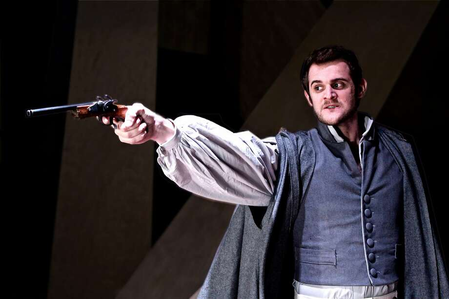 Victor Frankenstein (Max Tachis) is destroyed by his creation. Photo: Taylor Sanders, City Lights Theater Company