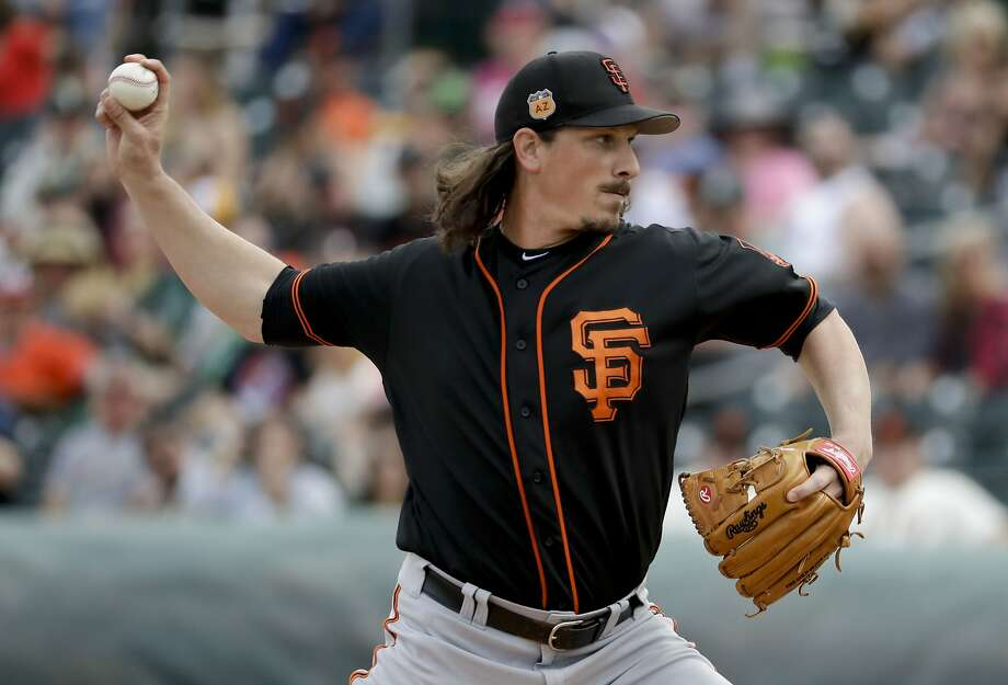 Jeff Samardzija, shown in an earlier game, held the Rockies to two hits over four innings. Photo: Chris Carlson, Associated Press