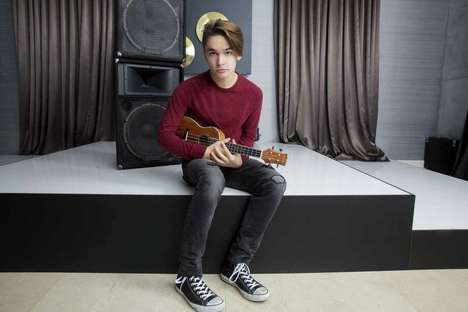 "Singer and musician Ian Grey, 15, of San Antonio is one of five teens competing on ""The Pop Game"" on Lifetime. Photo: Lifetime / Christin Rose"