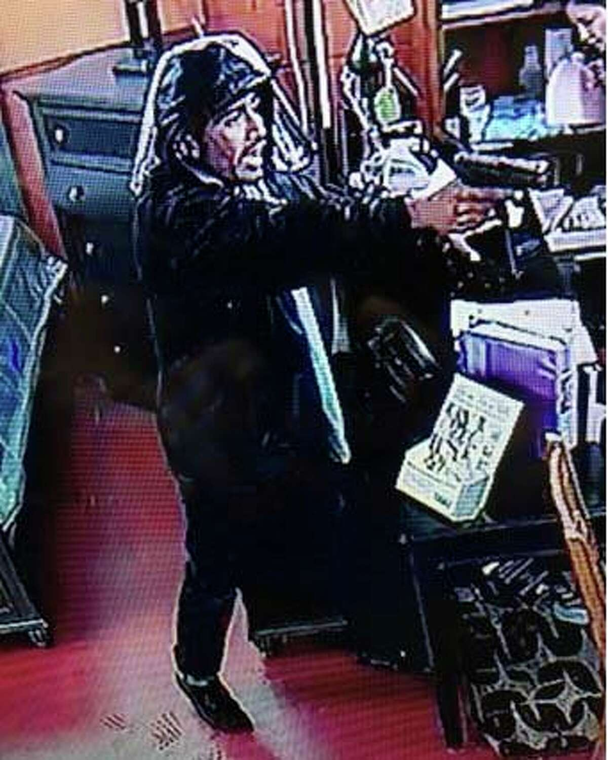 This man allegedly robbed a furniture store on March 4, 2017. Police and Crime Stoppers needs help in tracking him down.