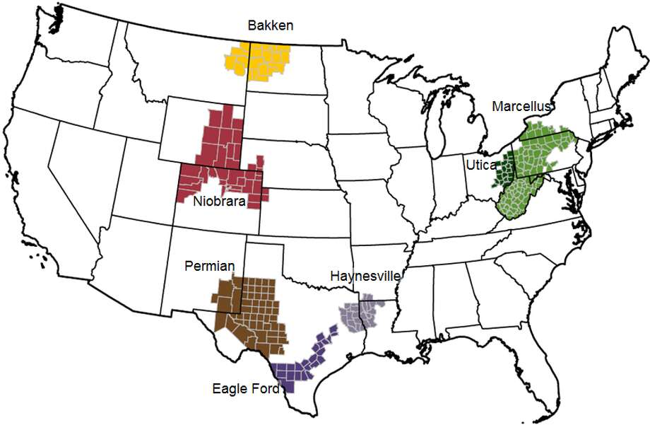 The Energy Information Administration on Monday released its drilling productivity report. The Permian Basin produced 2.207 million barrels of oil a day in March and was estimated to produce 2.286 million barrels in April. Photo:  Energy Information Administration