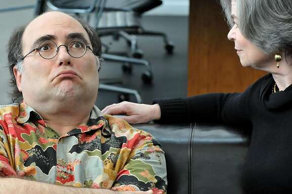 "Josh Kornbluth and Helen Shumaker in ""Love & Taxes."""