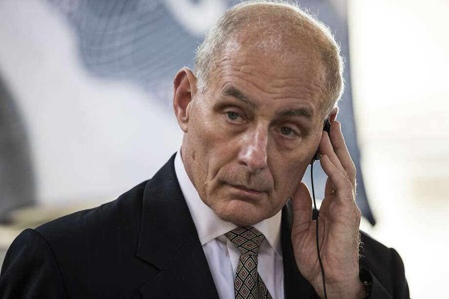 U.S. Secretary of Homeland Security John F. Kelly listens a question during a press conference at La Aurora Air Force Base in Guatemala City, Wednesday, Feb. 22, 2017. Kelly ends a two-day official visit and going to Mexico City. Photo: Moises Castillo, Associated Press