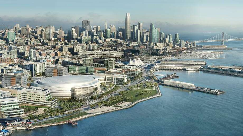 This is an artist's rendering of the Chase Center, the future home of the Warriors that is scheduled to open in 2019. Photo: Courtesy Golden State Warriors / Courtesy Golden State Warriors