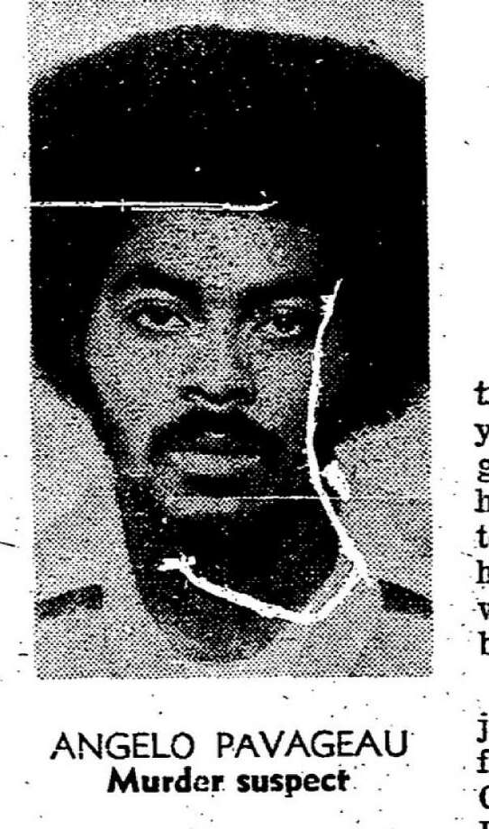 Mug shot of Angelo Pavageau , who murdered Frank Carlson, and brutally beat and raped Carlson's wife. Photo: Chronicle File 1974 / /