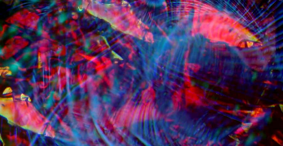 Still from Bill Ham light show. Image Courtesy of the Fine Arts Museums of San Francisco Photo: FAMSF