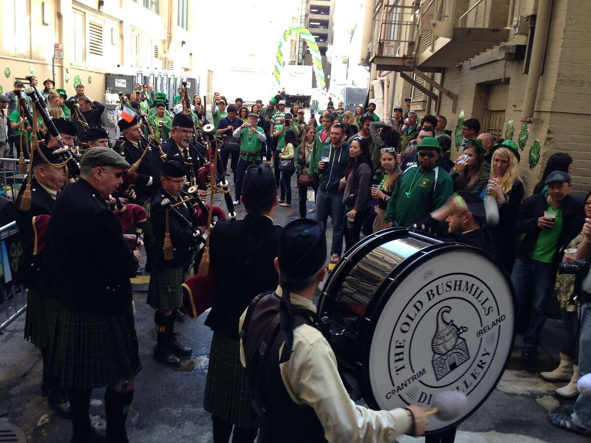 UNION SQUARE: To celebrate: Irish Bank Probably the single biggest St. Patrick's Day shindig in the city takes place in the back alley that spills out of the Irish Bank. But hey, if you're gonna celebrate on this day, why not go all out?