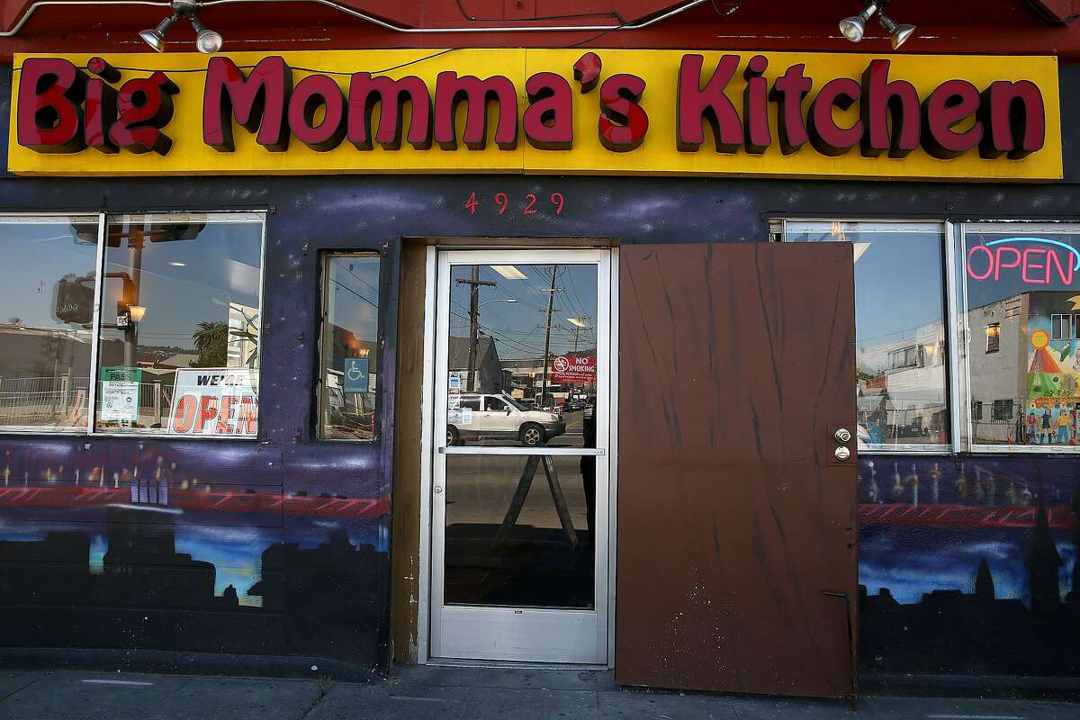View of the entrance at Big Momma's Kitchen on Tuesday, March 14, 2017, in Oakland, Calif.