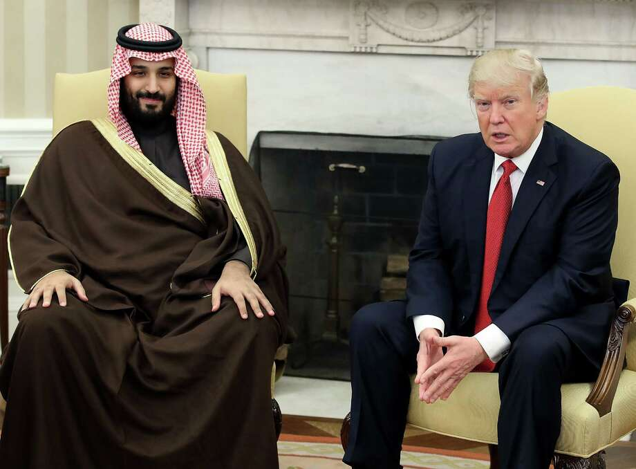 """Saudi ArabiaScheduled visit:May 19In an April interview with Reuters, Trump said Saudi Arabia wasn't paying its fair share: """"Frankly, Saudi Arabia has not treated us fairly, because we are losing a tremendous amount of money in defending Saudi Arabia."""" Trump has also suggested Saudi Arabia ought to develop nuclear weapons to protect itself. Photo: Mark Wilson / 2017 Getty Images"""