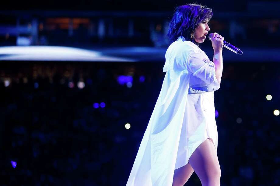 Demi Lovato performs at the Houston Livestock Show and Rodeo Tuesday, March 14, 2017 in Houston. ( Michael Ciaglo / Houston Chronicle ) Photo: Michael Ciaglo, Staff / Michael Ciaglo