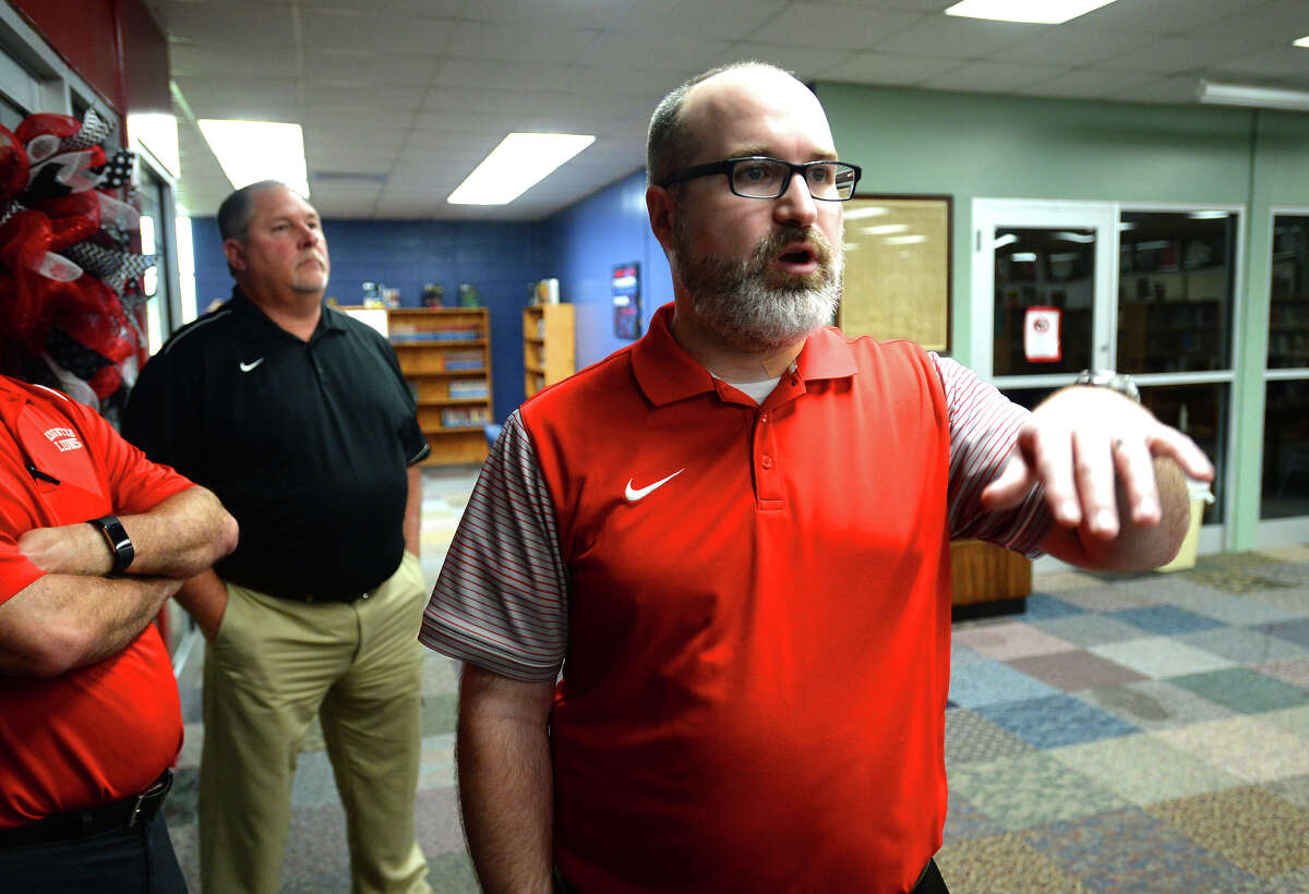 Thomas Cooley Kountze Middle School principal talks about the city's high school receiving almost $300,000 worth of new computers through state and federal grants. Photo taken Tuesday, March 07, 2017 Guiseppe Barranco/The Enterprise