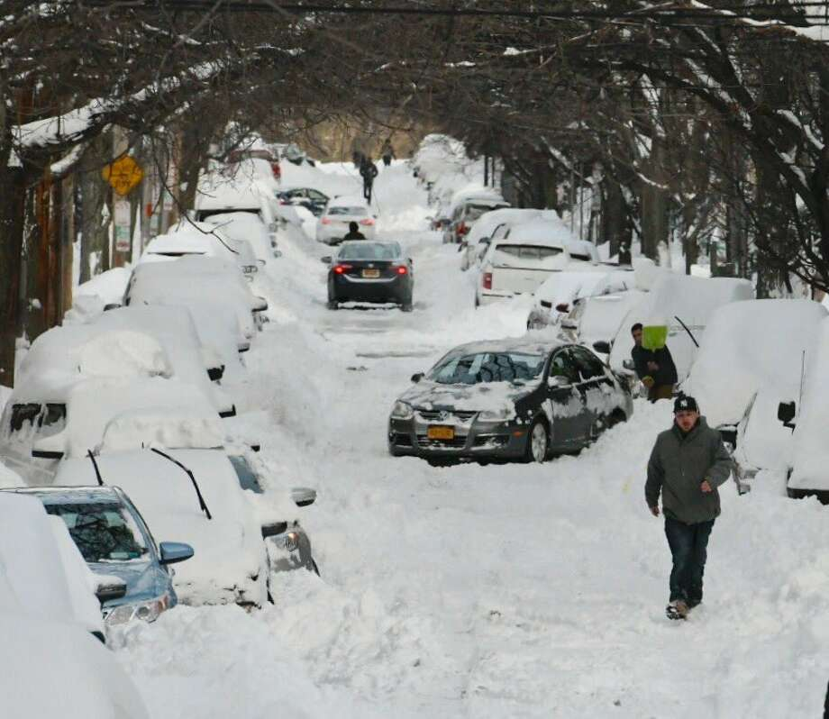 The digging out begins in Albany on Wednesday, March 15, 2017, after a blizzard on Tuesday dumped as much as 2 feet of snow on the Capital Region. (Skip Dickstein/Times Union)  Photo: Skip Dickstein/Times Union