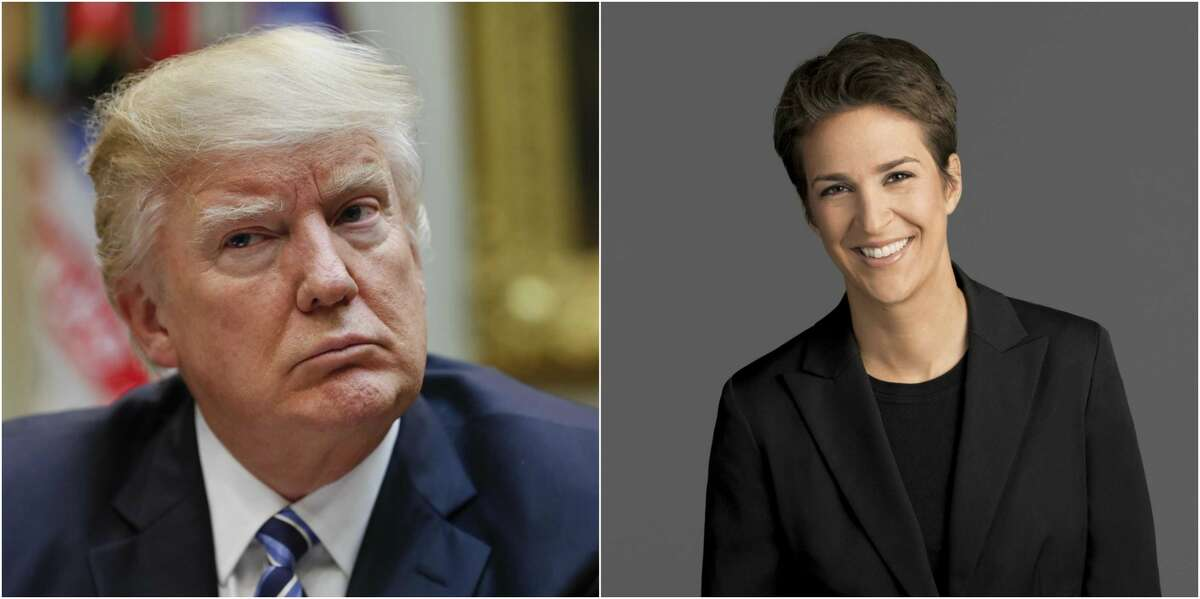 MSNBC personality Rachael Maddow revealed copies of President Trump's 2005 tax returns on March 14, 2017.