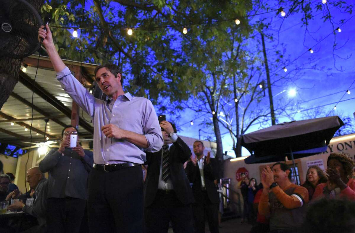 U.S. Rep. Beto O'Rourke, D-El Paso, speaks at Tycoon Flats in San Antonio March 11, 2017. O'Rourke is seeking the Senate seat currently held by Sen. Ted Cruz.