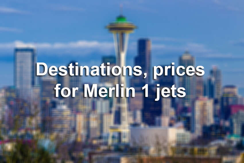 Keep clicking to how many thousands of dollars you'll have to dish for a ride on one of Merlin 1's learjets.