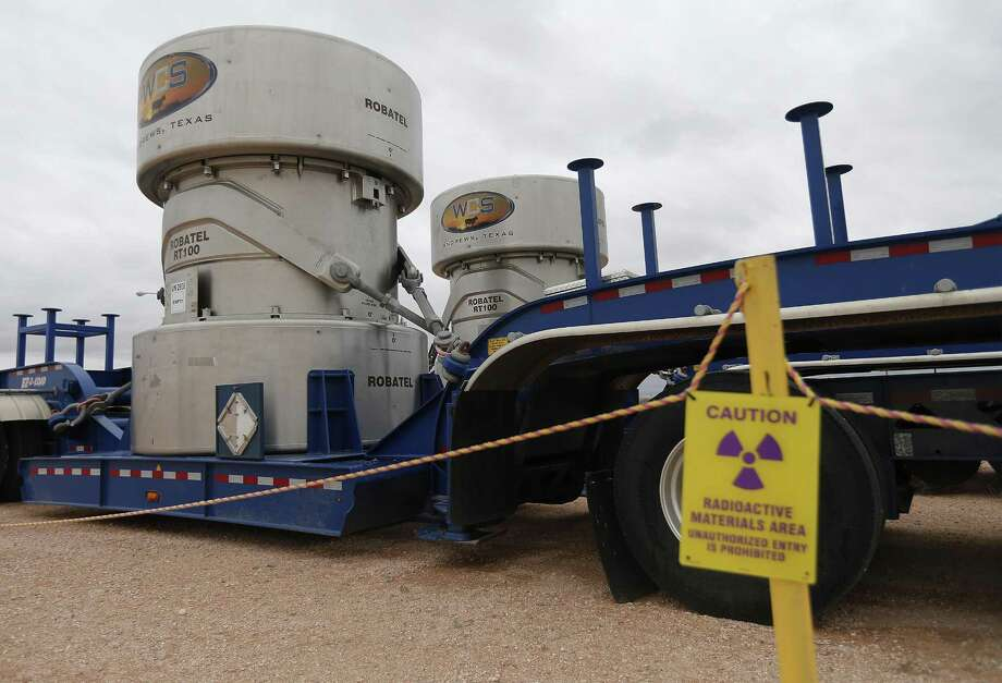 FILE PHOTO: Waste Control Specialists near Andrews, Texas, has two Robatel RT-100 radioactive transport casks. These casks are used to transport Class B and C radioactive waste.  Photo: Kin Man Hui /San Antonio Express-News / ©2017 San Antonio Express-News