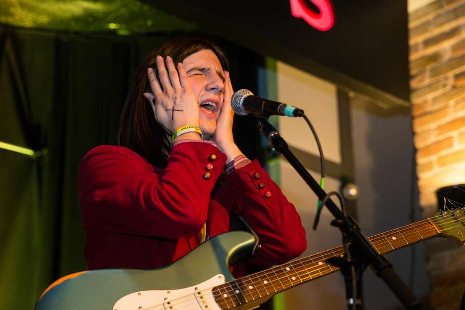 PHOTOS: The weirdest band names at SXSWBrian D'Addario of The Lemon Twigs performs at Maggie Mae's on March 14, 2017 in Austin, Texas. Click through to see A Giant Dog, a Magic Giant and more...  Photo: Lorne Thomson/Redferns