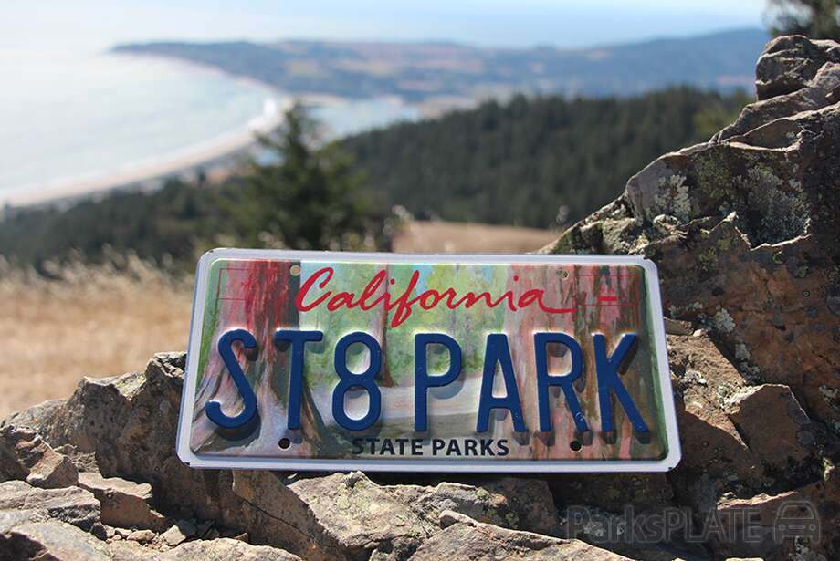 An image of the new state park California license plate being proposed for sale at the DMV. Photo: ParksPlate/Courtesy