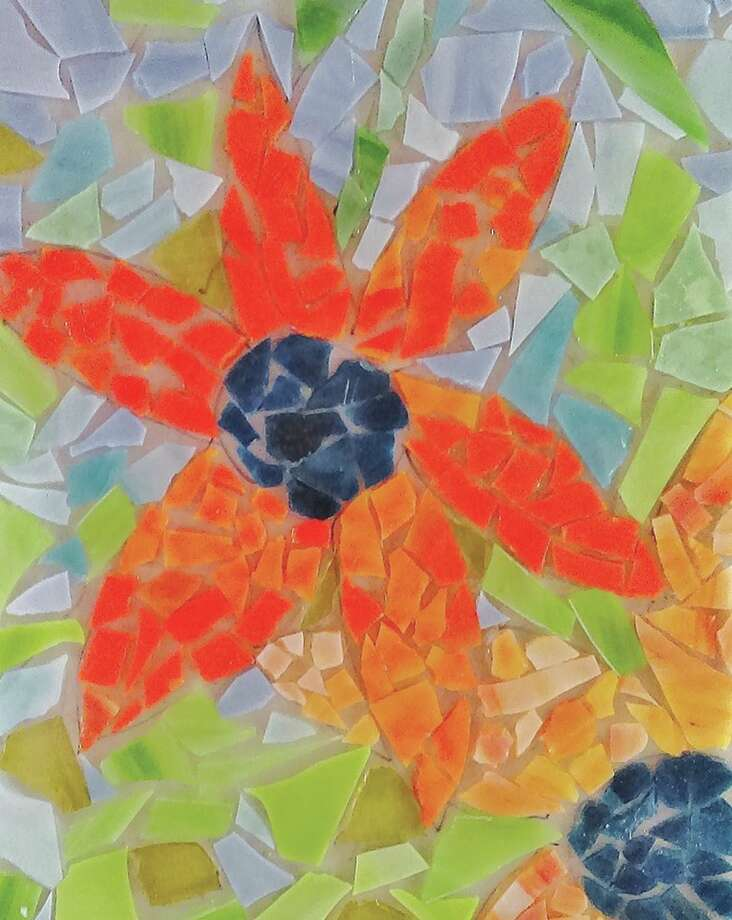 A stained glass piece created at the Edwardsville Arts Center. Photo: For The Intelligencer