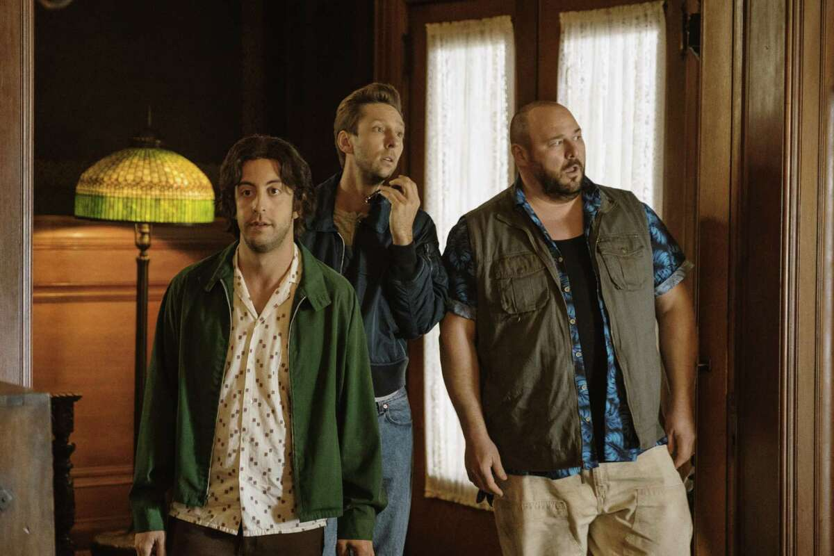 """Adam Rose (left), Joel David Moore and Will Sasso in """"Budding Prospects."""""""