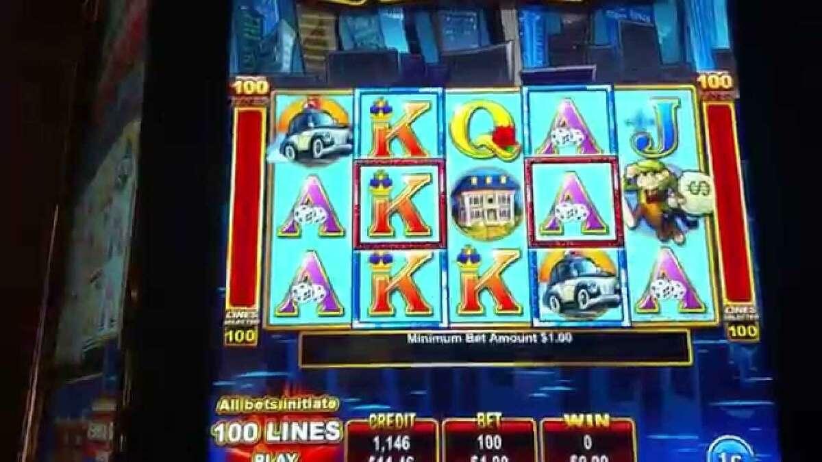 A slot machine at Mohegan Sun casino.