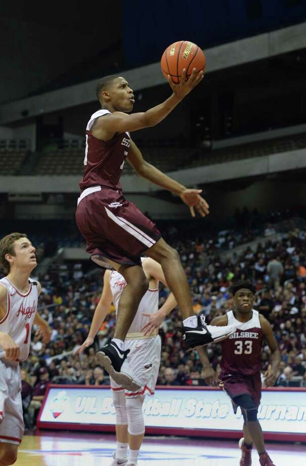 Sislbee's Trajan Harris against Argyle at UIL state tournament in San Antonio on Friday. Photo taken Friday, March 10, 2017 Guiseppe Barranco/The Enterprise Photo: Guiseppe Barranco, Photo Editor