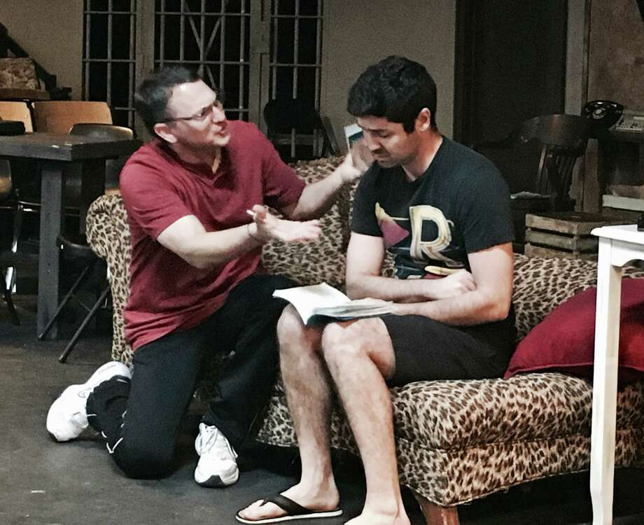 "Seth Heideman, teacher at Shadow Creek Ranch High School, plays Felix Unger opposite  Vincent Tortorice's Oscar Madison in Pearl Theater's production of ""The Odd Couple."""
