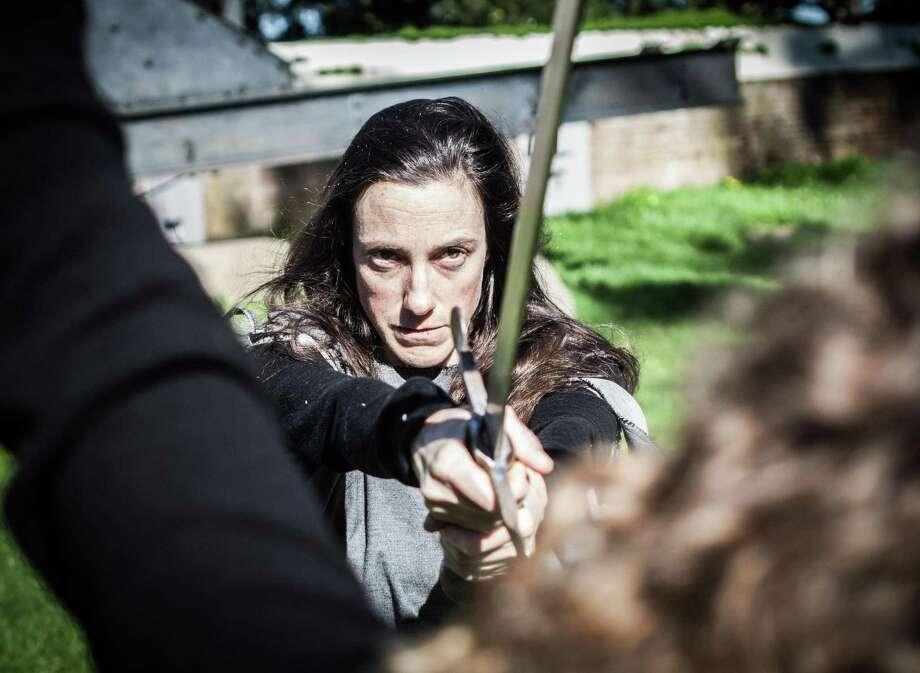 "Co-creator Dana Iova-Koga in We Players' ""Beowulf."""