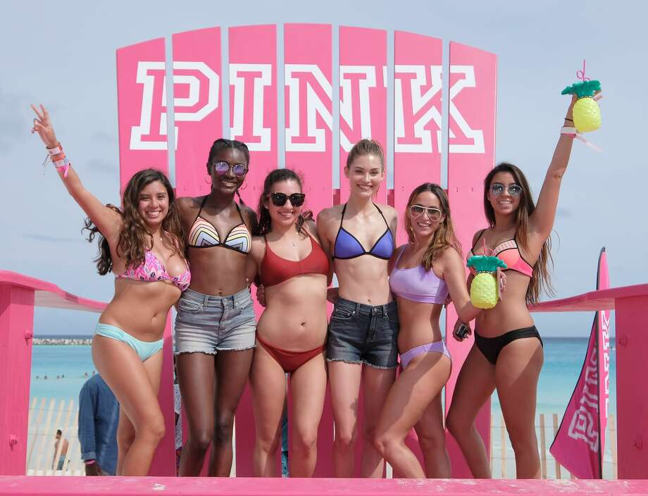 CANCUN, MEXICO - MARCH 14:  Models Zuri Tibby and Grace Elizabeth pose with guests at Victoria's Secret PINK Nation Hosts Spring Break Bash on March 14, 2017 in Cancun, Mexico.  (Photo by Dimitrios Kambouris/Getty Images for Victoria's Secret Pink) Photo: Dimitrios Kambouris/Getty Images For Victoria's Secr
