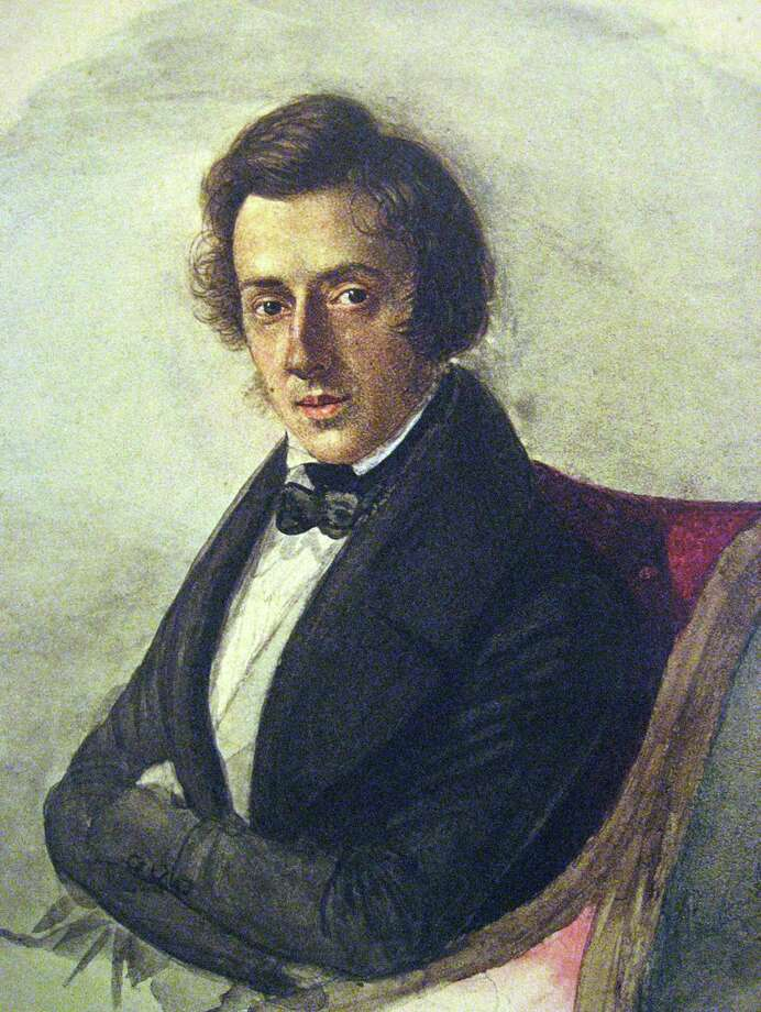 Frederic Chopin (image from Bard College, crediting Maria Wodzinska / wikimedia commons)