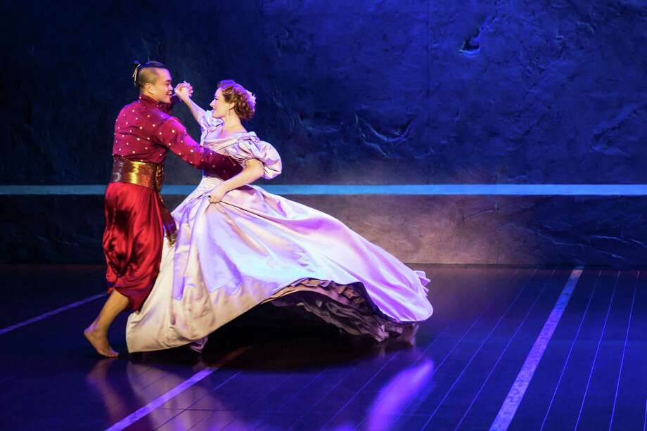 Jose Llana and Laura Michelle Kelly in Rodgers & Hammerstein's The King and I. Photo: Photo By Matthew Murphy