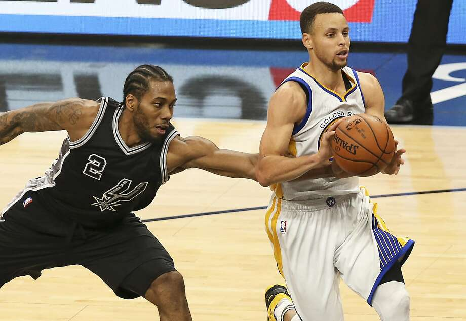 No Stephen Curry. No Kawhi Leonard, most likely. But what an intriguing way for the Warriors to begin their playoff run. Photo: TOM REEL, SAN ANTONIO EXPRESS-NEWS