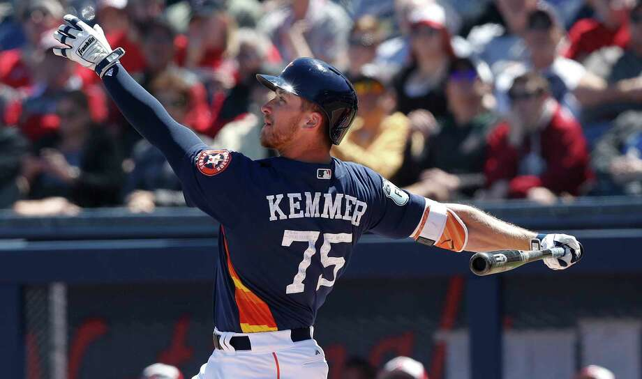 Astros minor league outfielder Jon Kemmer is a candidate to be selected in Thursday's Rule 5 Draft. Photo: John Bazemore, Associated Press / Copyright 2017 The Associated Press. All rights reserved.