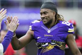 MINNEAPOLIS, MN - DECEMBER 18: Cordarrelle Patterson #84 of the Minnesota Vikings greets fans before the game against the Indianapolis Colts on December 18, 2016 at US Bank Stadium in Minneapolis, Minnesota. (Photo by Adam Bettcher/Getty Images)