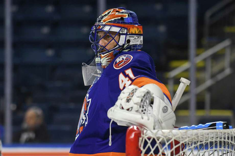 BRIDGEPORT, CT - JANUARY 25: Jaroslav Halak #41 of the Bridgeport Sound Tigers at the Webster Bank Arena on January 25, 2017 in Bridgeport, Connecticut. (Photo by Gregory Vasil/Getty Images) *** Local Caption ***Jaroslav Halak Photo: Gregory Vasil / Getty Images / 2016 Gregory Vasil
