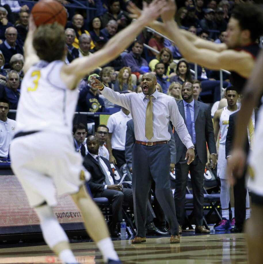 California head coach Cuonzo Martin during Cal's 77-75 double overtime win over Utah in Pac12 men's basketball game at Haas Pavilion in Berkeley, Calif., on Thursday, February 2, 2017. Photo: Scott Strazzante / The Chronicle / **MANDATORY CREDIT FOR PHOTOG AND SF CHRONICLE/NO SALES/MAGS OUT/TV