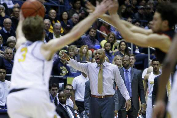 California head coach Cuonzo Martin during Cal's 77-75 double overtime win over Utah in Pac12 men's basketball game at Haas Pavilion in Berkeley, Calif., on Thursday, February 2, 2017.
