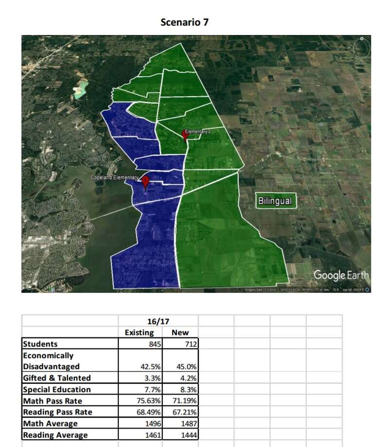 Huffman ISD has narrowed its options down to four in considering new zones for the elementary school scheduled to be complete in August 2018. Photo: Courtesy