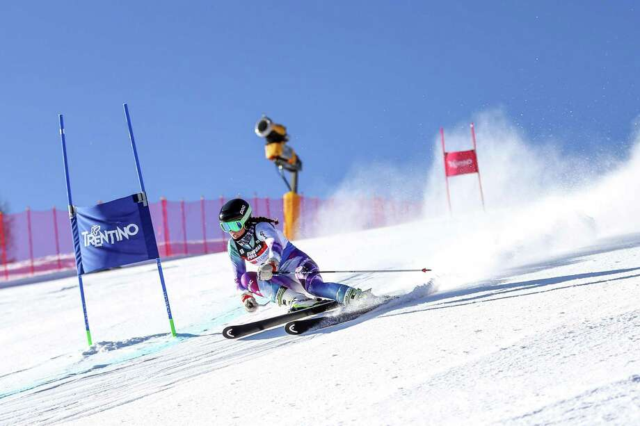 Greenwich native Olivia Holm was one of six under-16 ski racers that was selected to compete in the L'Alpe Cimbra FIS Children Cup in Tarvisio, Italy, last week. The U.S. Ski and Snowboard Association selected the athletes to compete at the prestigious event. Photo: Alice Russolo Photography / Contributed Photo / Greenwich Time Contributed