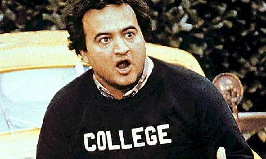 """John Belushi, well known as """"Bluto"""" in """"National Lampoon's Animal House"""", the 1978 comedy film about the fictional Faber College. Belushi died March 5, 1982 of a multiple drug overdose. Photo: Contributed Photo"""
