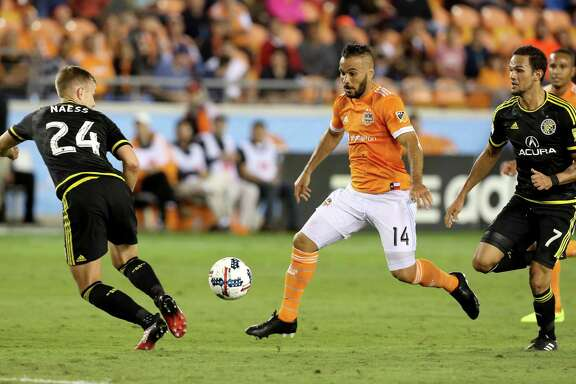 Dynamo midfielder Alex, center, has made his presence felt during the club's first two matches - both victories - this season. Last season's team MVP already has surpassed his MLS career best with three assists during the team's victories over Seattle and Columbus.