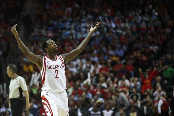 Houston Rockets guard Patrick Beverley (2) reacts during the second half of an NBA game at Toyota Center, Wednesday, March 15, 2017, in Houston.  ( Karen Warren / Houston Chronicle )