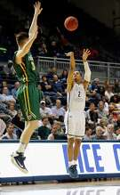 Rice's Marcus Evans lines up a 3-pointer during his big second half Wednesday night.